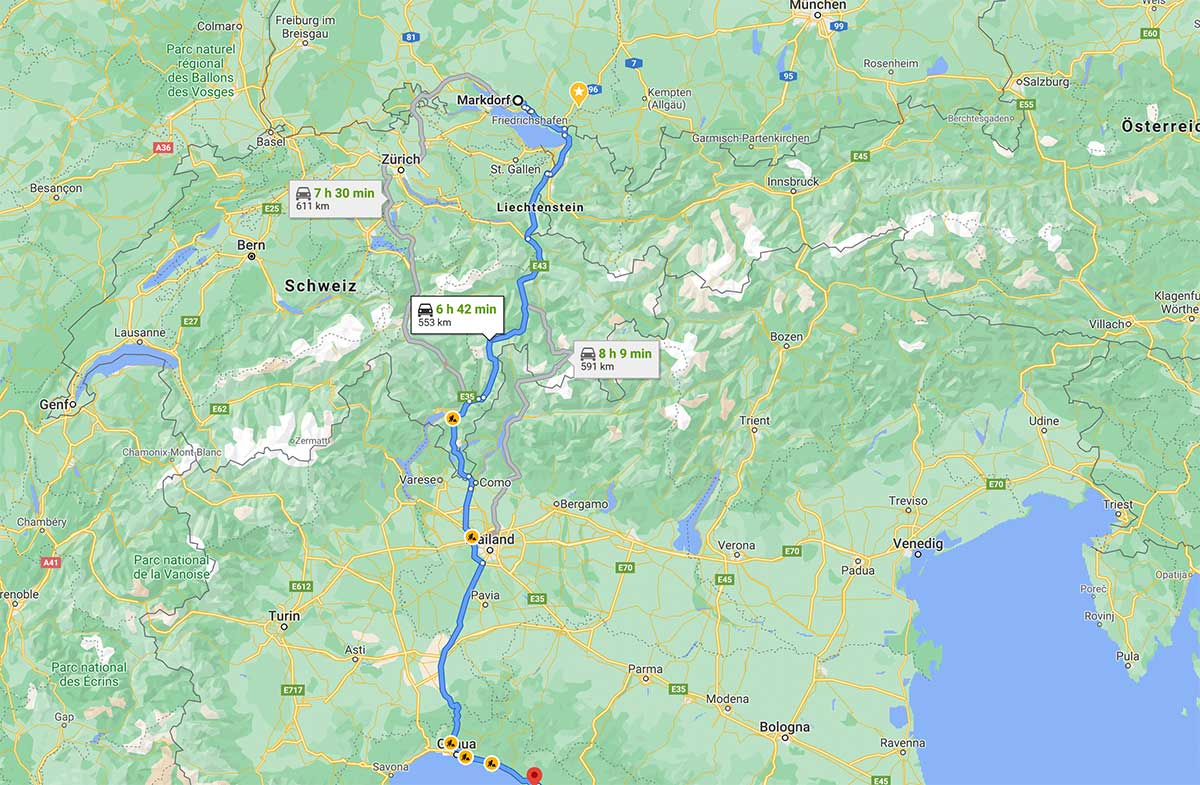 Wohnmobil Urlaub Ligurien und Cinque Terre