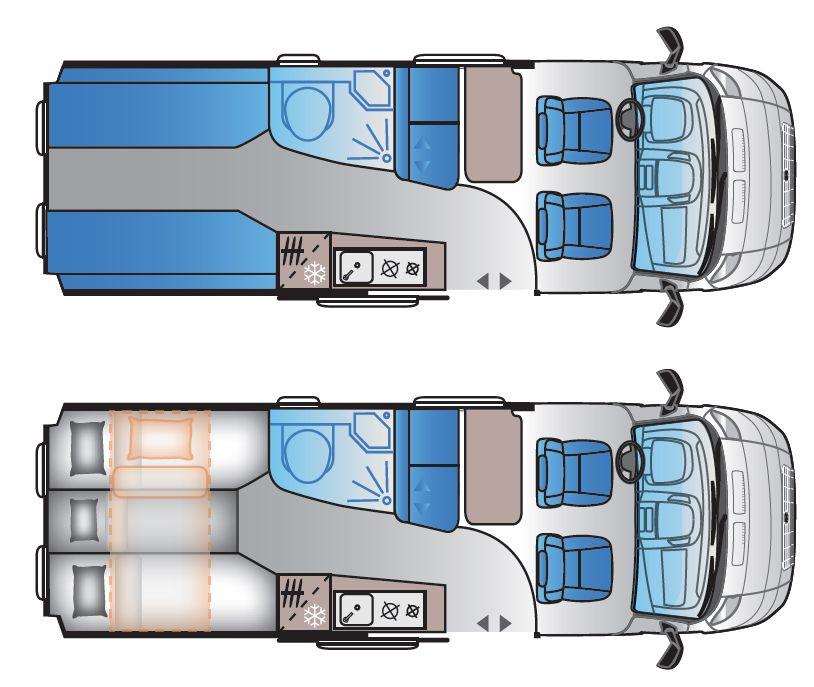 Adria V65SL - Teilintegriertes Wohnmobil in Maulbronn